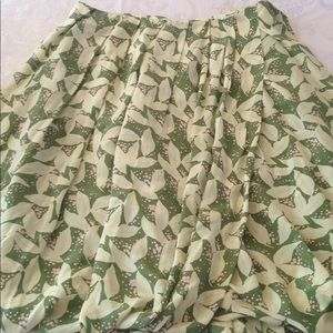 Tracy Reese Sz 6 Gorgeous Silk Floral Skirt